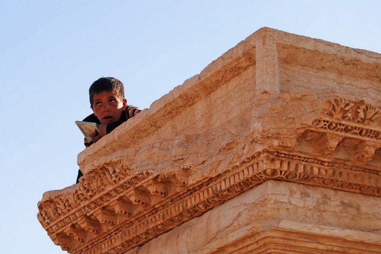 Ein Junge in Palmyra, Syrien, 2010