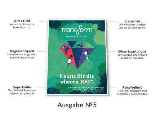 transform ausgabe 5 luxus