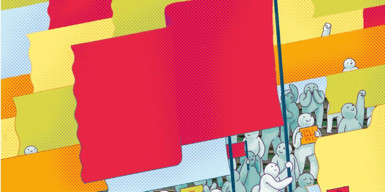 Revolution - Illustration von Paul Butterer für transform
