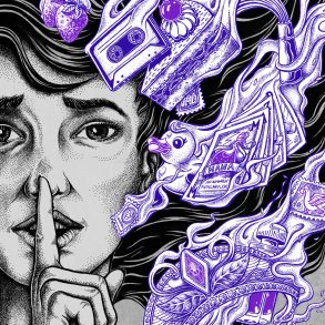 Psst! Illustration von Christian Heerde für transform